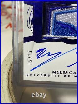 2019 Flawless Collegiate Myles Gaskin /15 Bowl Patch5K Program Rusher
