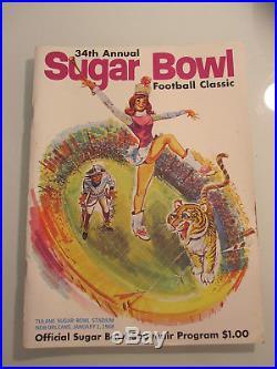 34th ANNUAL SUGAR BOWL FOOTBALL CLASSIC PROGRAM 1968 LSU TIGERS vs WYOMING NM