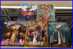 (5) Super Bowl Official Game Program Holographic Cover Lot