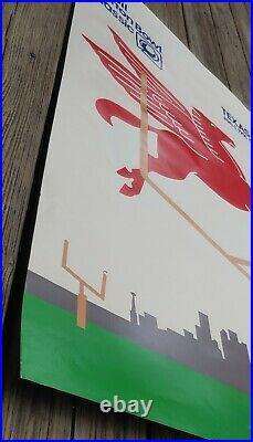 55th Mobil Cotton Bowl Football 1991 Poster Texas vs Miami Palladino Pegasus