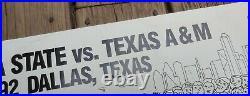 56th Mobil Cotton Bowl Football 1992 Poster Florida St. Vs Texas A&M Palladino