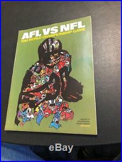AFL VS NFL 1968 World Championship Game Program Super Orange Flordia Bowl Rare