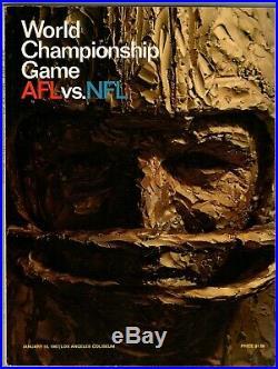 AFL vs. NFL World Championship Game Program Super Bowl I Packers vs. Chiefs
