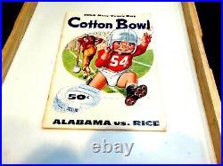 Alabama/Rice 1954 Cotton Bowl Classic Football Program 1/1/1954
