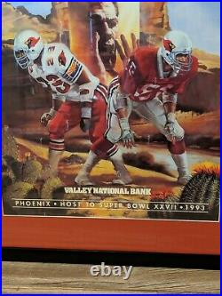 Arizona Cardinals Super Bowl Poster NFL Pulled MLK Holiday Great Condition Rare