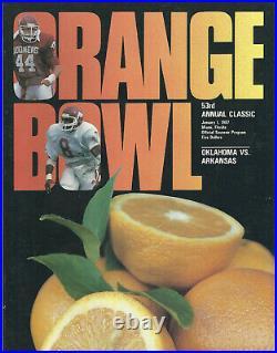Arkansas Razorbacks Bowl Programs, 1965 Cotton Bowl plus Six other Bowl Programs