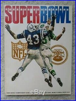 Aunthentic Official Program Super Bowl 3 from Jan. 1969 New York Jets vs Colts