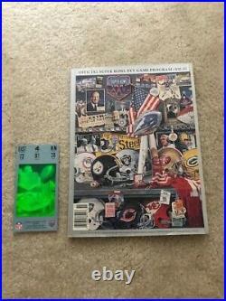 Authentic Super Bowl XXV 25 NFL Ticket Stub & Program