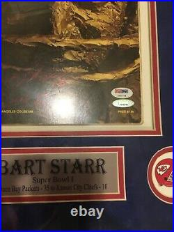 BART STARR Signed Super Bowl I Football Program PSA/DNA U80754 Green Bay Packers