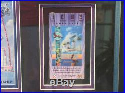 Baltimore Ravens Super Bowl 35 Champs 2001 Framed Pin Ticket Program Memorabilia