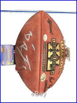 Ben Roethlisberger autographed Super Bowl Football