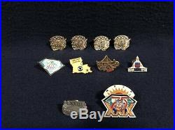 Blowout Sale (10) Super Bowl Press Pins 18,19,22,24 And 29 Near Mint Condition