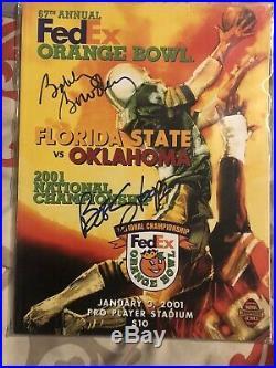 Bob Stoops/Bobby Bowden Signed 2001 Orange Bowl National Championship Program