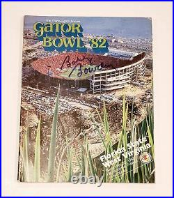 Bobby Bowden Signed Florida State West Virginia 1982 Gator Bowl Program Proof