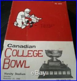 Canadian College Bowl 1967 Vanier Cup FOOTBALL PROGRAM MCMASTER ALBERTA CIS CIAU