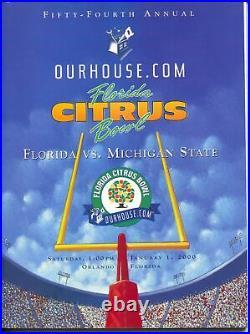 Citrus Bowl NCAA Football Game Program 1/1/2000-Florida-Mich State-VF