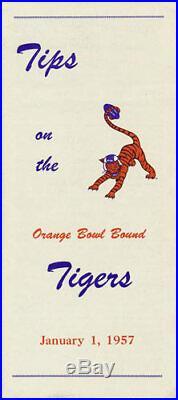 Clemson Tigers RARE 1957 Orange Bowl Media Guide NCAA Football College program