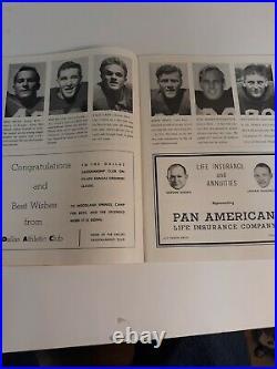 Cotton Bowl 1953 Pro Football Classic Detroit Lions New York Giants Dallas Tx