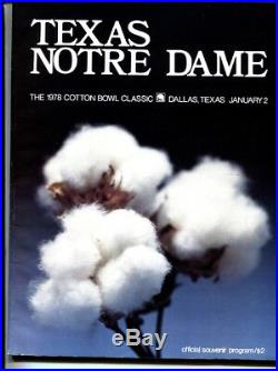 Cotton Bowl Texas Vs. Notre Dame-1977 College Football Program National Champs