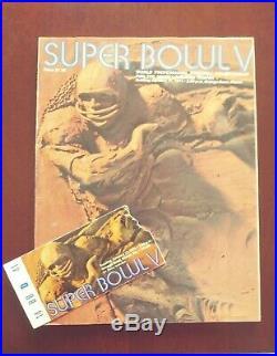 Dallas Cowboys Super Bowl V Program And Ticket