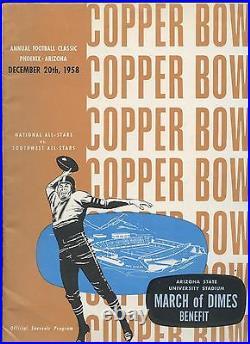 December 20 1958 NCAA Football Program Copper Bowl All Star Game EX