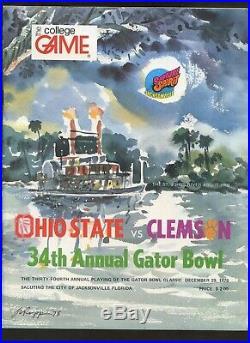 December 29 1978 NCAA Football Gator Bowl Program Ohio State vs. Clemson