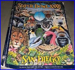 Denver Fan's Dream-' Super Bowl 32 Authentic Ticket Stub, Program, Egg, & Pin