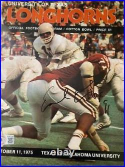 Earl Campbell signed 1975 Cotton Bowl program autograph Beckett Texas Longhorns