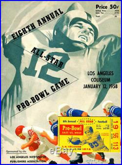 Eight Annual All-Star Pro-Bowl Game 1958 Program