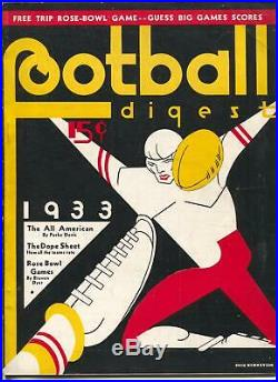 Football Digest 1933-Rose Bowl Game-All-American's-schedules-pix-info-NCAA-FN