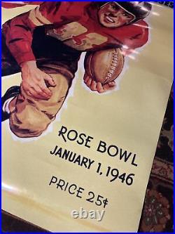 Football Rose Bowl January 1, 1946 Southern California vs Alabama 4 x 3 poster