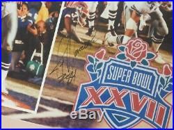 Framed NFL Dallas Cowboys Super Bowl XXVII Collage Signed by Smith & Irvin, JSA