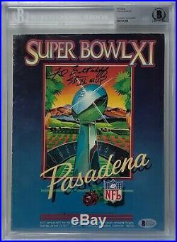 Fred Biletnikoff Signed Original Football Super Bowl XI Program SB XI MVP BAS