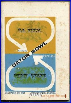 GATOR BOWL NCAA FOOTBALL GAME PROGRAM-12/30/61-PENN STATE-GA TECH-vg