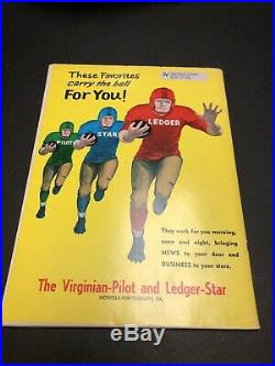 Georgia Bulldogs Football 1957 UGA Vs. Navy Oyster Bowl Game Program