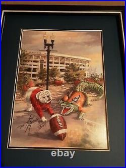 Georgia/Florida Gator Bowl Football Print By Anni Moller