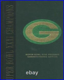Green Bay Packers Autographed Super Bowl 31 Commemorative Edition Program