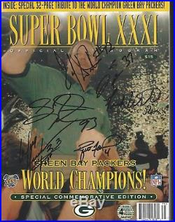 Green Bay Packers Autographed Super Bowl 31 Commemorative Edition Program Favre