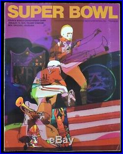 HIGH GRADE 1970 Super Bowl IV Football Program Beauty EX-MT