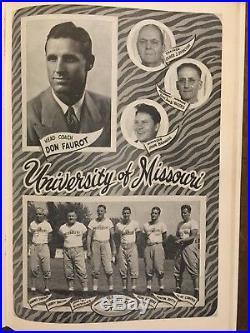 HISTORIC 1949 Gator Bowl Clemson vs Missouri football program/F. HOWARD/FRED CONE