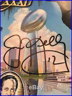 HOF QB JIM KELLY BUFFALO BILLS Super Bowl XXXI 31 Autographed Program RARE HTF