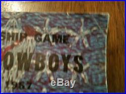 Hard to find Green Bay vs Dallas 1967 Ice Bowl Program