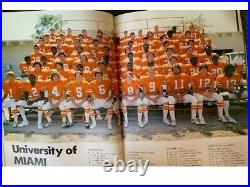 Highly Collectible 1979 NotreDame Football Program Mirage Bowl vs Miami in Japan