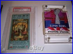 Incredible Super Bowl Football Lot Pins Signed Buttons Programs Graded More