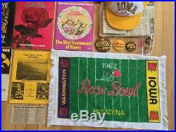 Iowa Hawkeyes Football Collection 1981 1982 Rose Bowl Season Programs Souvenirs