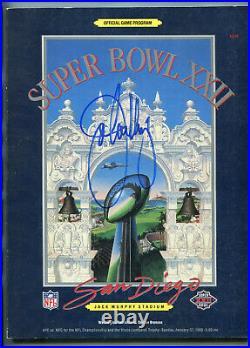 JOHN ELWAY Denver Broncos signed Super Bowl XXII (vs Redskins) program