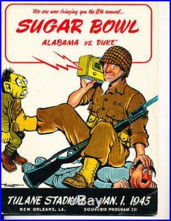 Jan 1 1945 Sugar Bowl Alabama vs Duke Football Program bx1