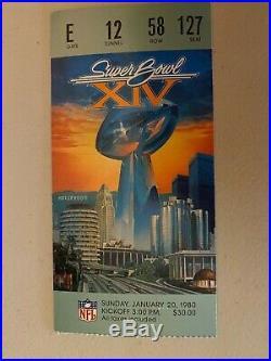 Jan. 20, 1980 Super Bowl XIV Ticket Stubs Three (3) ORIGINAL & Souvenir Program