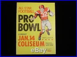 January 14, 1962 All-Star Football Pro Bowl Program 1961 Season
