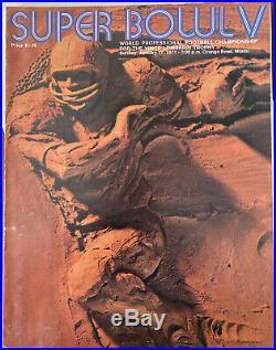 January 17th 1971 Super Bowl V Program Cowboys- Colts